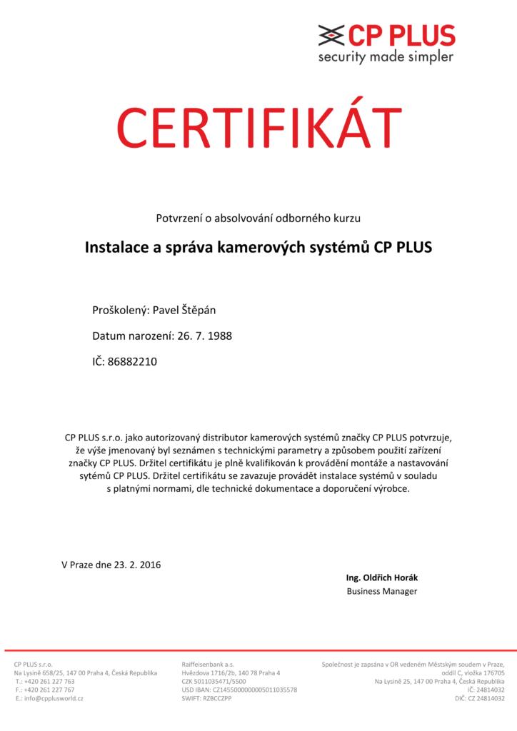 CP PLUS certifikát_Pavel_01